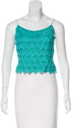 Carmen Marc Valvo Lace Crop Top