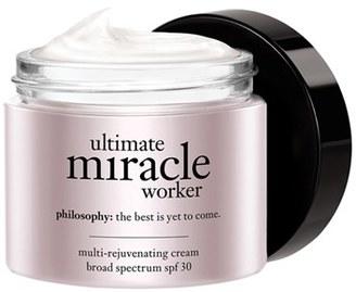 Philosophy Ultimate Miracle Worker Multi-Rejuvenating Cream Broad Spectrum Spf 30 $19.60 thestylecure.com