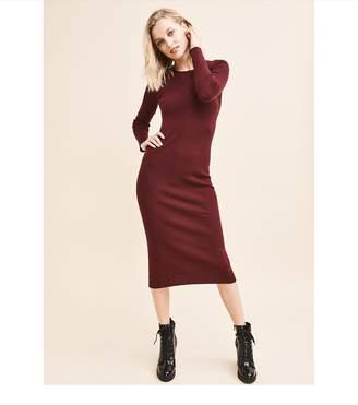Dynamite Bodycon Sweater Dress PERFECT BURGUNDY