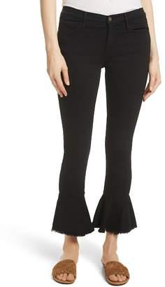 Frame Le Skinny de Jeanne Flounce Skinny Jeans (Film Noir)