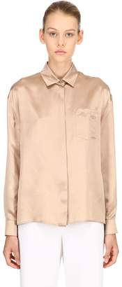 Salvatore Ferragamo Silk Satin Shirt