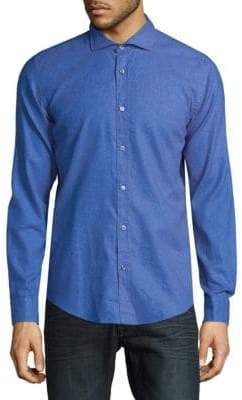 HUGO BOSS Slim-Fit Cotton Button-Down Shirt