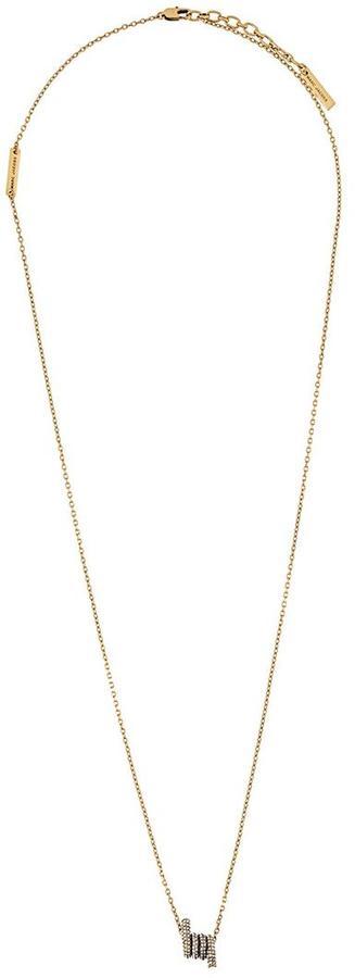 Marc JacobsMarc Jacobs twist pendant necklace