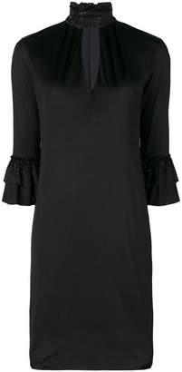 Blumarine ruffle sleeve shift dress