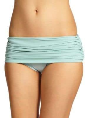 Norma Kamali Ruched Low-Rise Bikini Bottom