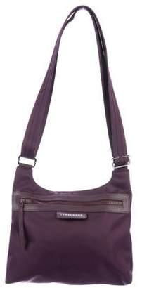 Longchamp Leather-Trimmed Nylon Crossbody Bag