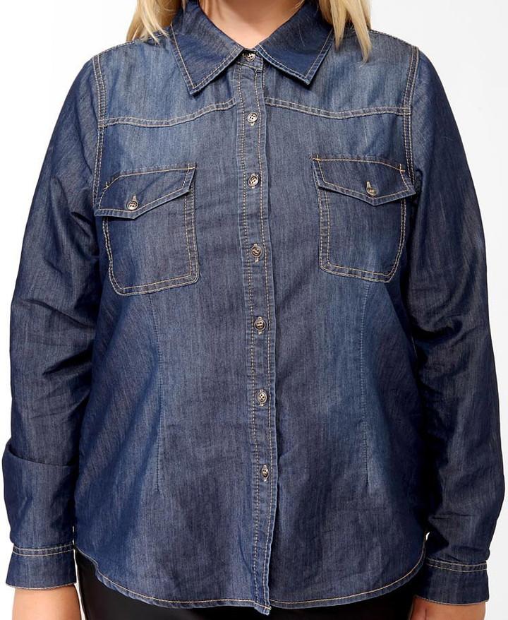 Forever 21 FOREVER 21+ Western Denim Shirt