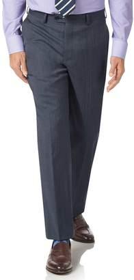 Light Blue Classic Fit Twill Business Suit Trousers Size W38 L32