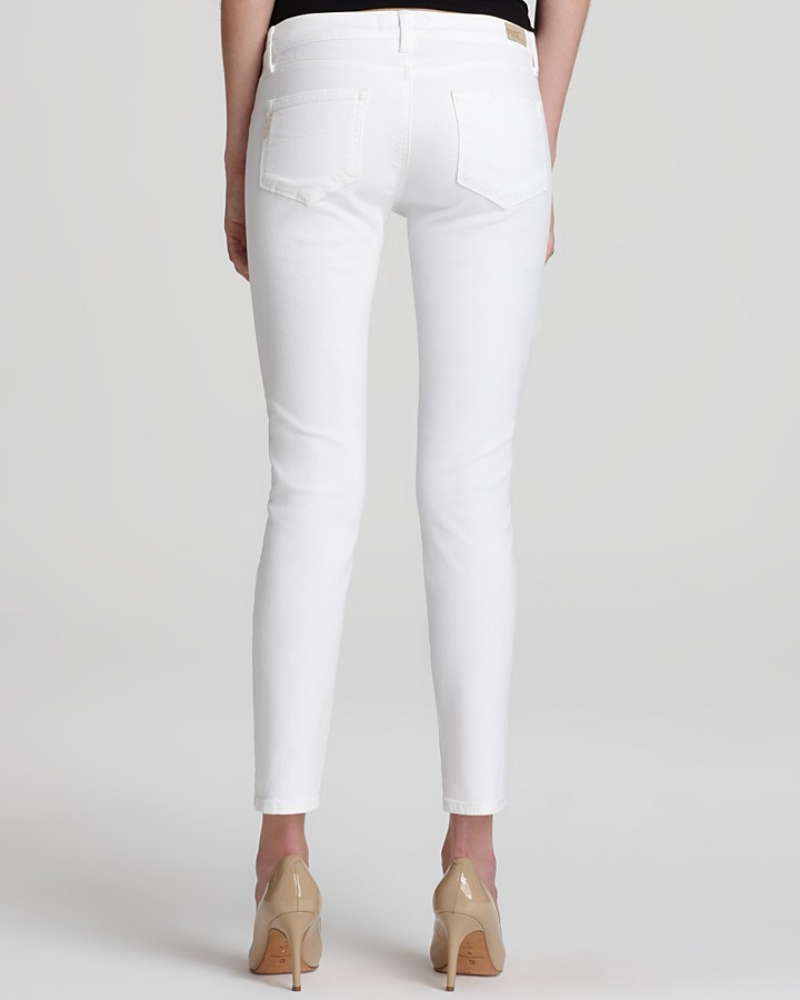 Paige Jeans - Union Skyline Ankle Peg in Optic White