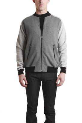 Shades of Grey Knit Bomber Jacket