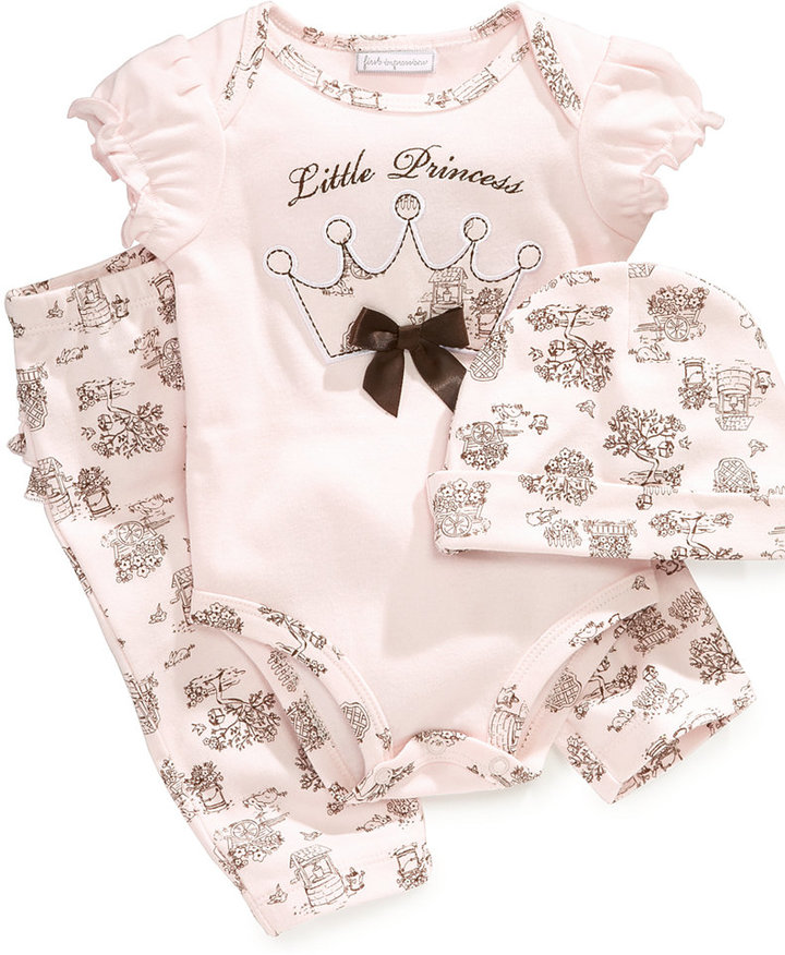 First Impressions Baby Set, Baby Girls 3-Piece Set