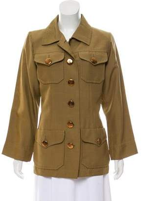 Saint Laurent Structured Silk Jacket