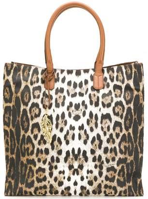 Roberto Cavalli leopard shopper bag