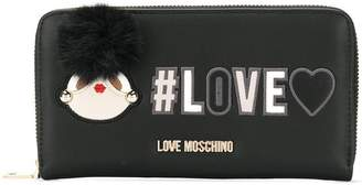 Love Moschino pompom detail wallet