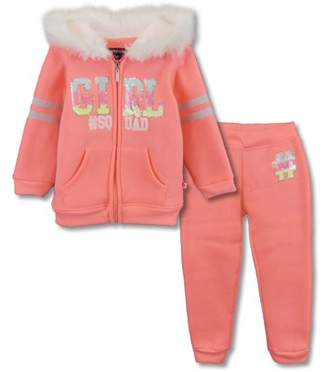 Limited Too Zip-up Hoodie Sweatshirt & Fleece Jogger Pants, 2pc Outfit Set (Toddler Girls)
