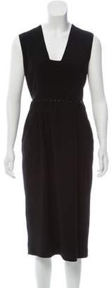 Bottega Veneta Sleeveless Wool Midi Dress