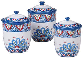 Certified International Tangier 3-Pc. Canister Set