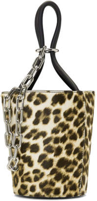 Alexander Wang Multicolor Leopard Mini Roxy Bucket Bag