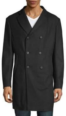 Armani Collezioni Double-Breasted Wool Coat