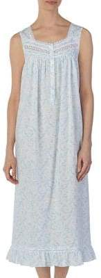 Eileen West Lace-Trimmed Cotton Ballet Nightgown