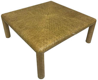 One Kings Lane Vintage Lacquered Grasscloth Coffee Table - Madcap Cottage