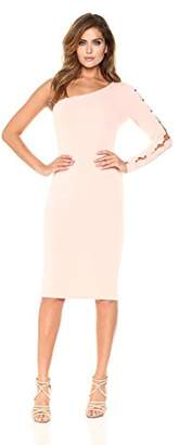 Velvet Rope Women's One Sleeve Embellished Midi Dress