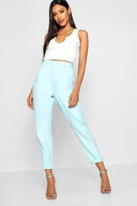 boohoo Pastel Blue Denim Mom Jeans