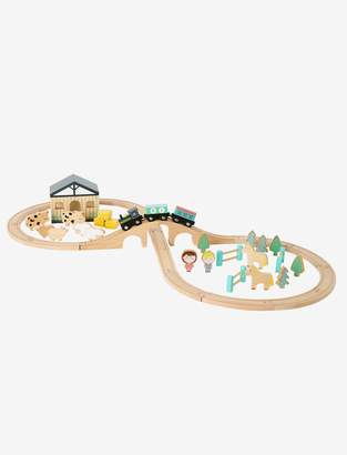 Vertbaudet Wooden Train Tracks and Farm Accessories