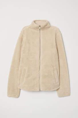 H&M Short Pile Jacket - Beige