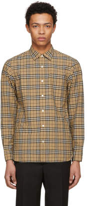 Burberry Beige Plaid Alexander Shirt