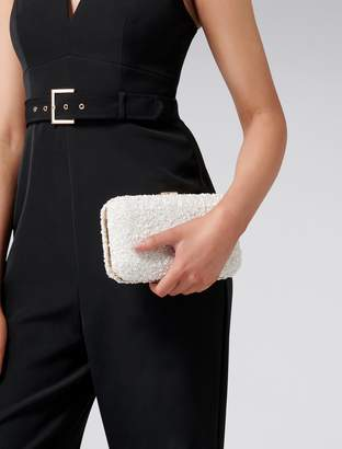 Forever New Alexis Embellished Clutch - White - 00