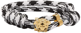 Versace Black and White Rope Bracelet