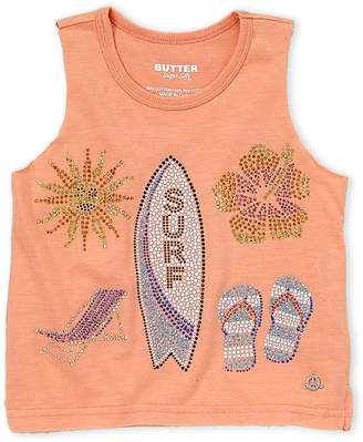 Butter Shoes Girls 4-6x) Embellished Beach Tank