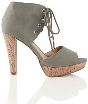 Charlotte Ronson Dietrich Instep Two Piece Shoe in Army Green