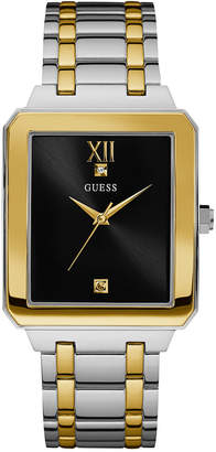 GUESS Men's Diamond Accent Two-Tone Stainless Steel Bracelet Watch 35mm U0917G3
