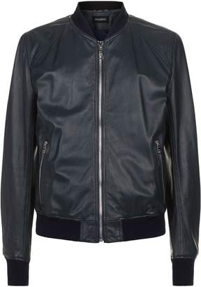Dolce & Gabbana Leather Bomber Jacket