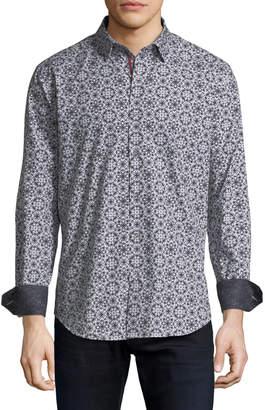 Bugatchi Shaped-Fit Sunburst Sport Shirt