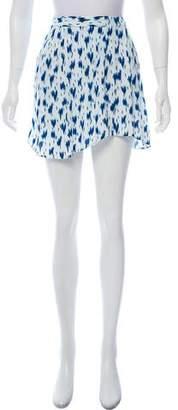 BA&SH Printed Mini Skirt