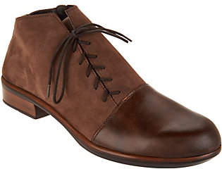 Naot Footwear Leather Outside Lace-up Ankle Boots -Camden