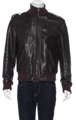 Maison Margiela Leather Bomber Jacket