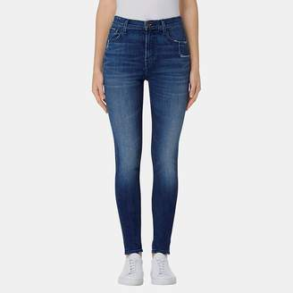 J Brand Carolina Super High-Rise Skinny Jean in Gone