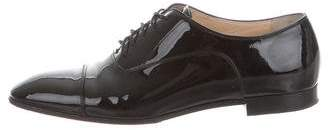 Christian Louboutin Patent Leather Cap-Toe Oxfords