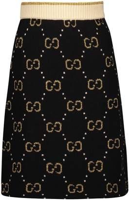 Gucci GG wool skirt