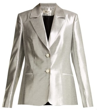 Diane von Furstenberg Single Breasted Twill Blazer - Womens - Silver