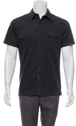 CNC Costume National Short Sleeve Snap-Up Shirt