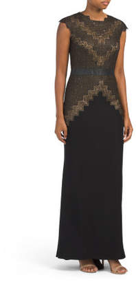 Long Gown With Waist Detail