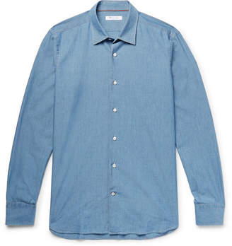 Loro Piana Preston Cotton-Chambray Shirt - Men - Blue