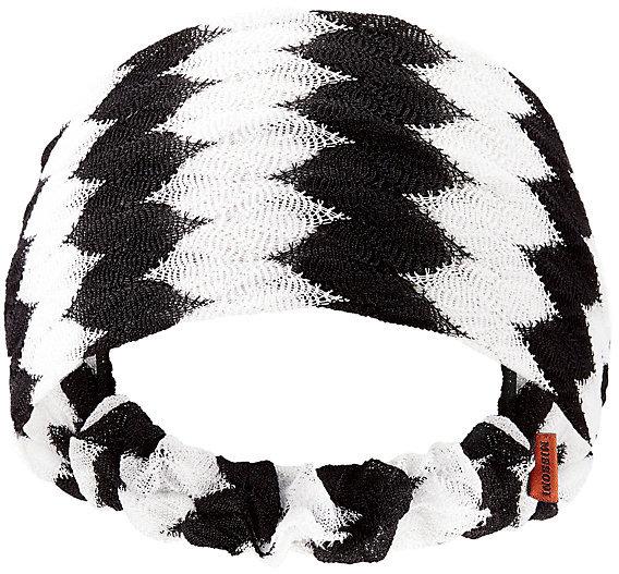 MissoniMissoni Black And White Chevron Headband