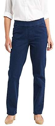Chic Classic Collection Women's Easy-Fit Elastic-Waist Pant