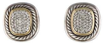 David Yurman Two-Tone Diamond Albion Clip-On Earrings